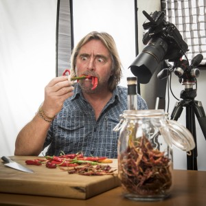 1.Pairings photographer David Gluns gets silly in the final hours of cookbook production. (David Gluns Photo).