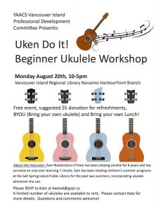 Ukulele Workshop Aug 20